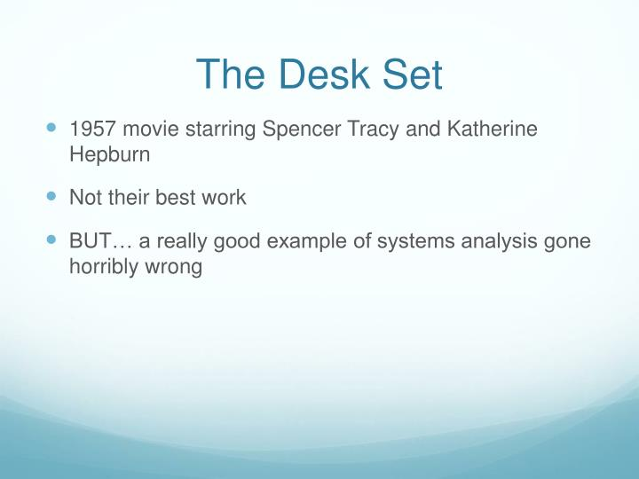 The Desk Set