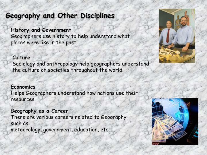 Geography and Other Disciplines