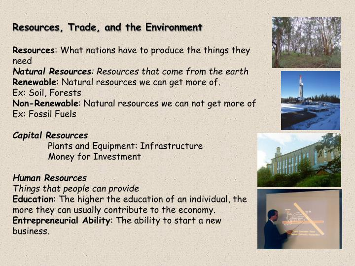 Resources, Trade, and the Environment
