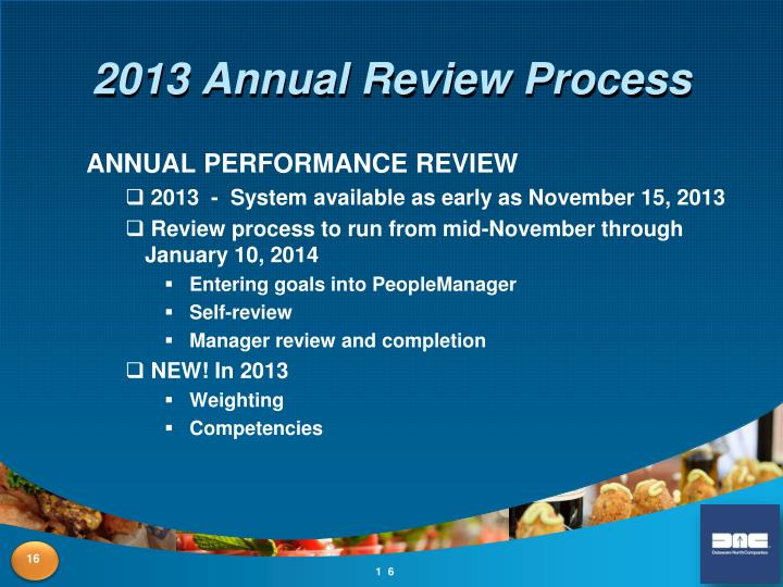 2013 Annual Review Process