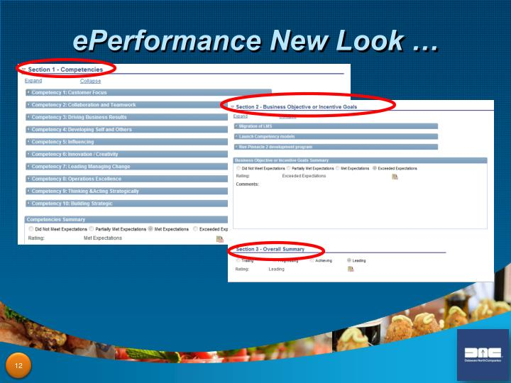 ePerformance New Look …