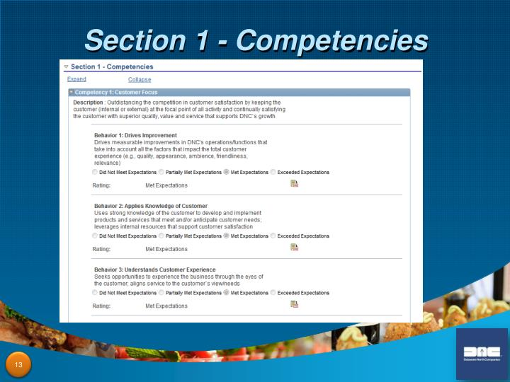 Section 1 - Competencies