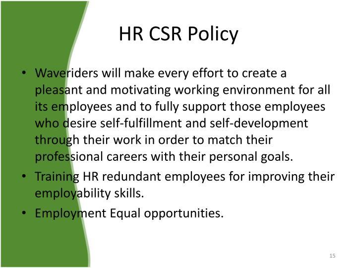HR CSR Policy