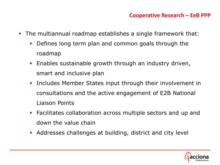 Cooperative Research – EeB PPP