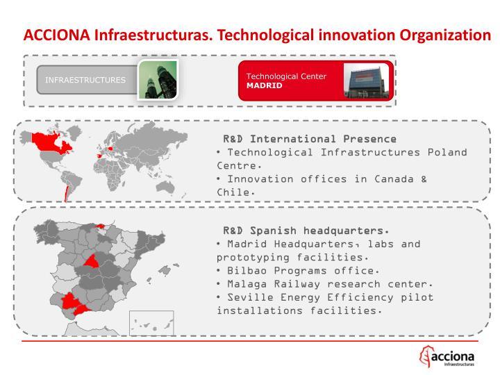 ACCIONA Infraestructuras. Technological innovation Organization