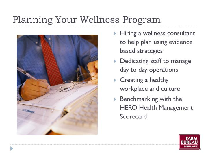Planning Your Wellness Program