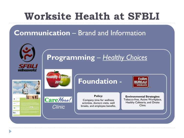 Worksite Health at SFBLI