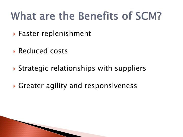 What are the Benefits of SCM?