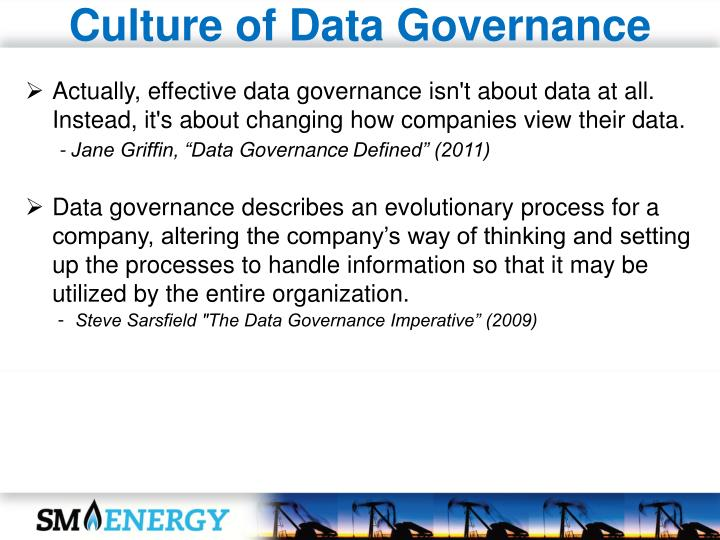 Culture of Data Governance