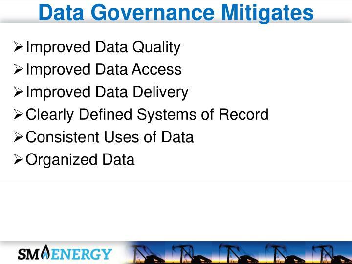 Data Governance Mitigates