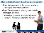 how is that different than data governance