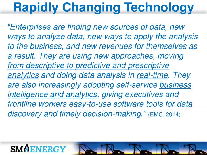 Rapidly Changing Technology