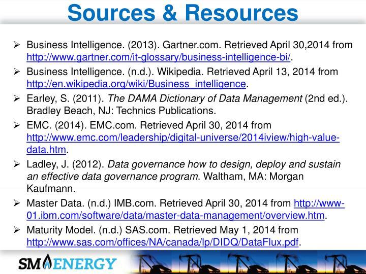 Sources & Resources