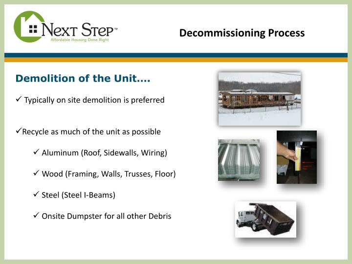 Decommissioning Process