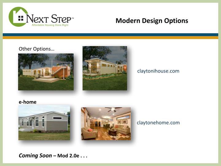 Modern Design Options