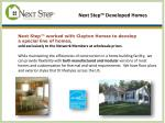 next step developed homes