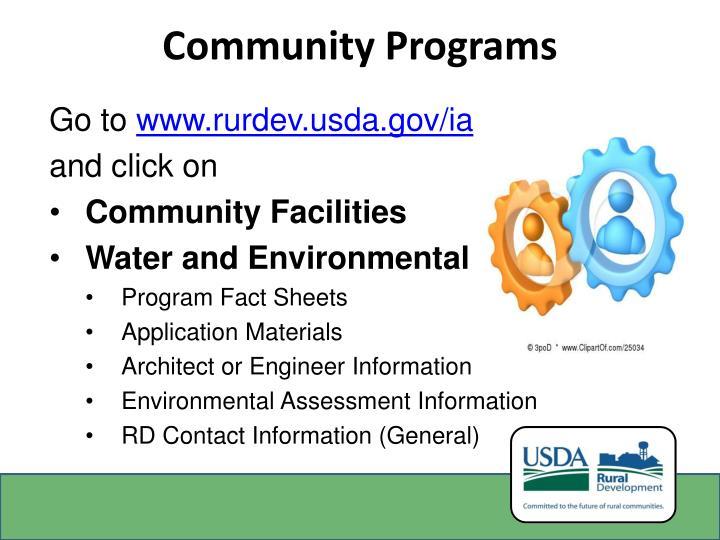 Community Programs