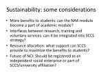 sustainability some considerations
