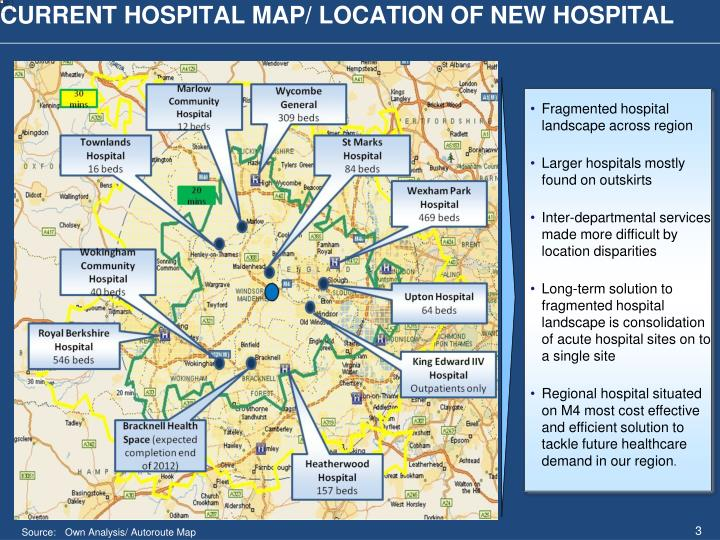 CURRENT HOSPITAL MAP/ LOCATION OF NEW HOSPITAL