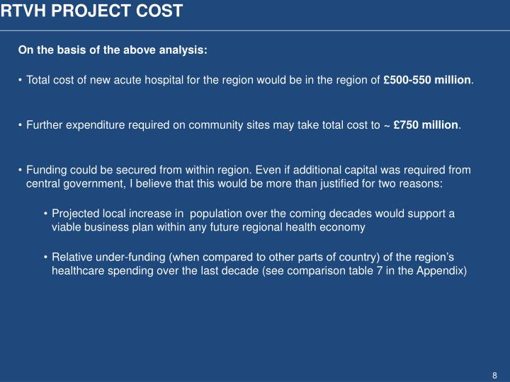 RTVH PROJECT COST