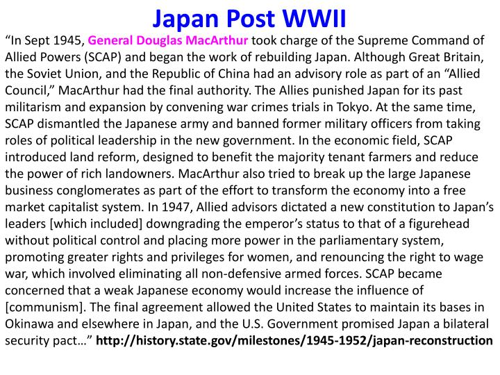 Japan Post WWII