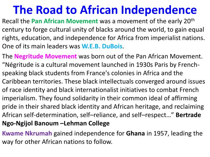 The Road to African Independence