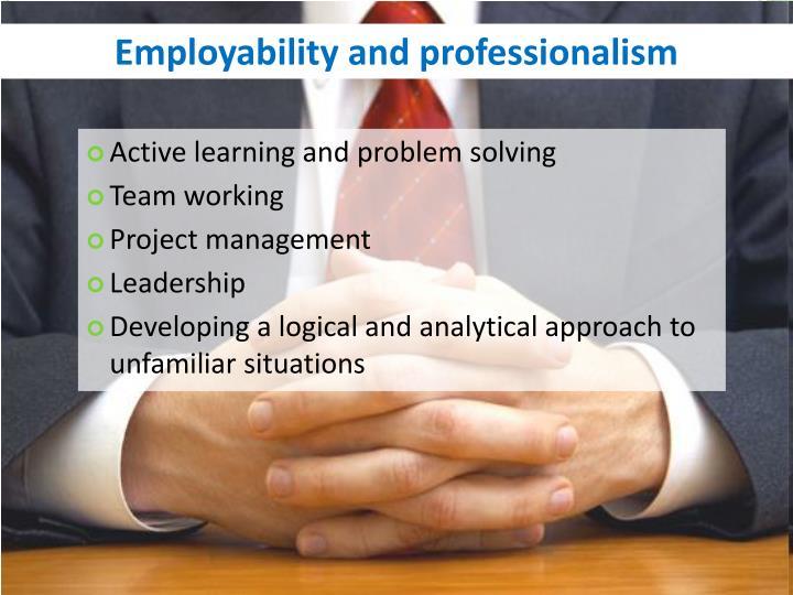 Employability and professionalism