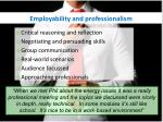 employability and professionalism1