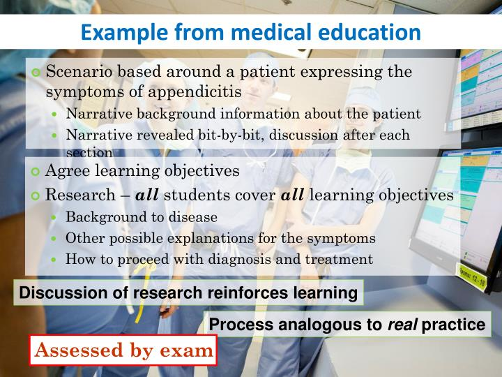 Example from medical education