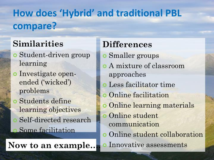 How does Hybrid and traditional PBL compare?