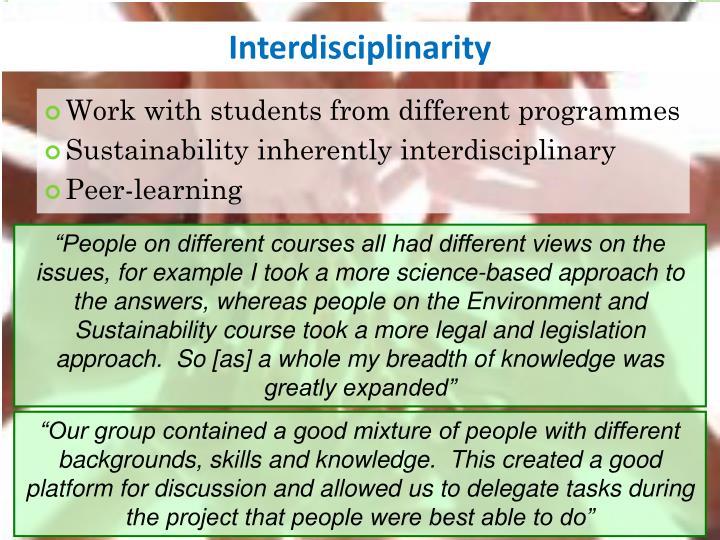 Interdisciplinarity