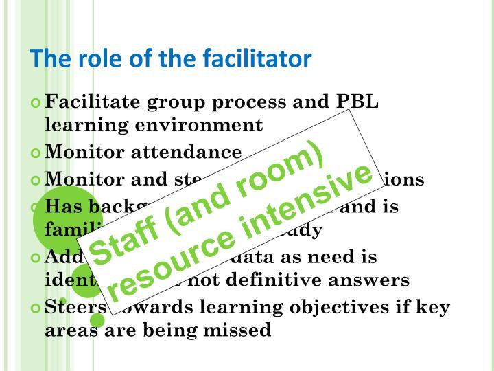 The role of the facilitator