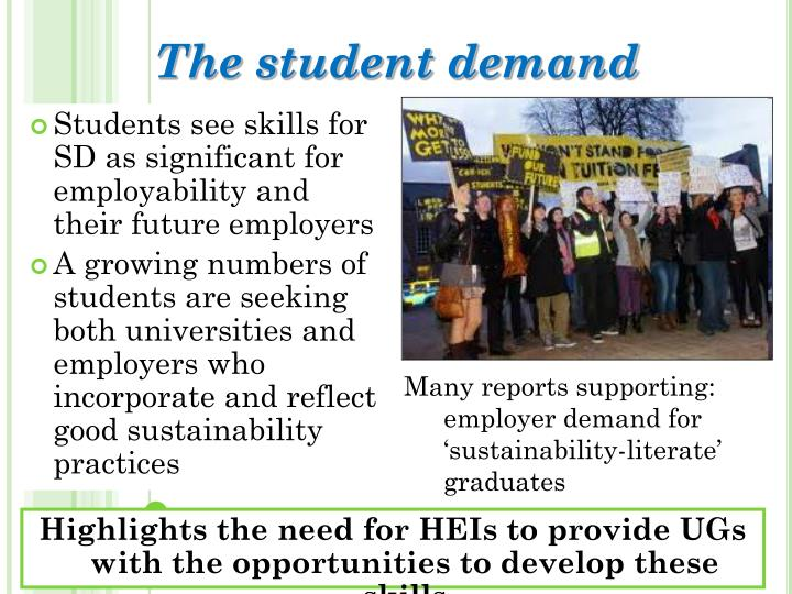 The student demand