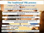 the traditional pbl process
