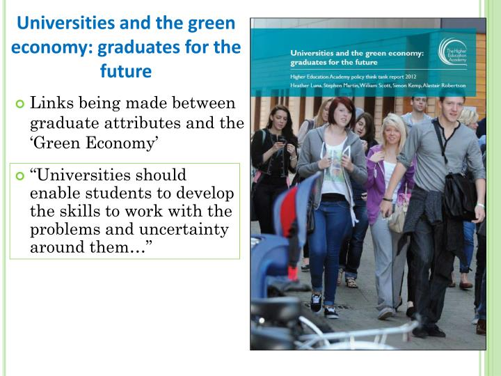 Universities and the green economy: graduates for the future