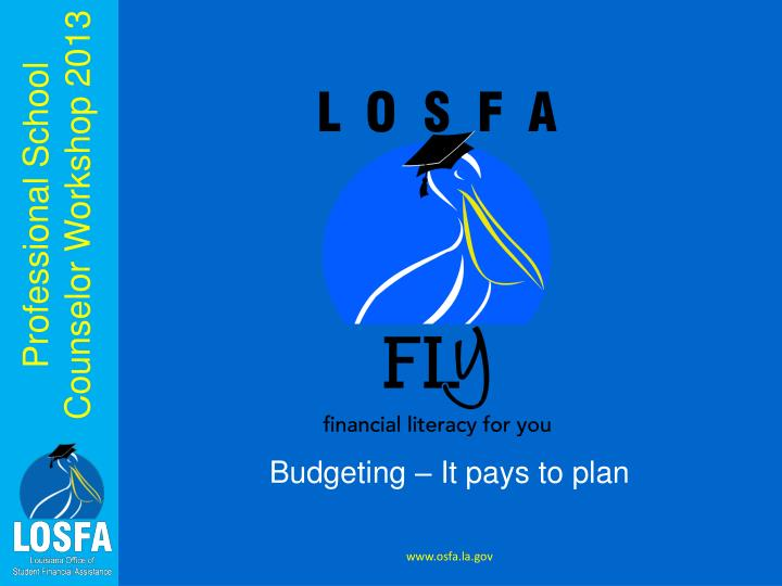 Budgeting – It pays to plan