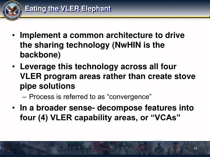 Eating the VLER Elephant