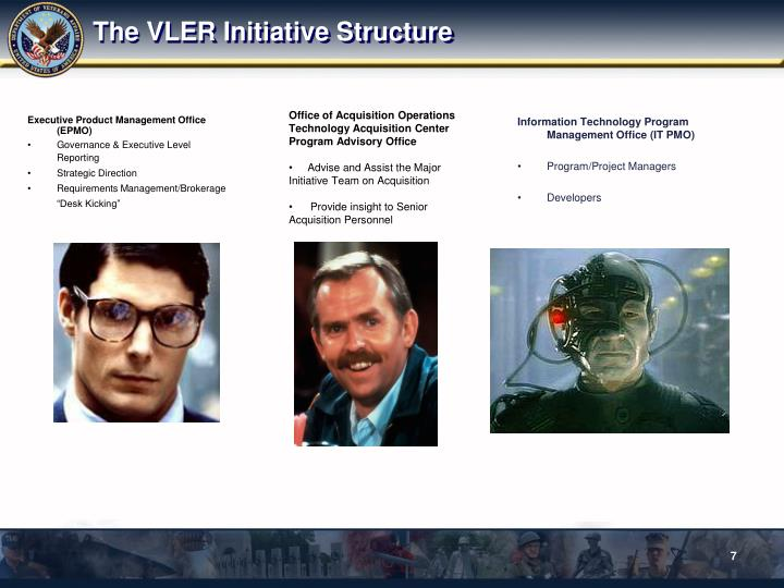 The VLER Initiative Structure