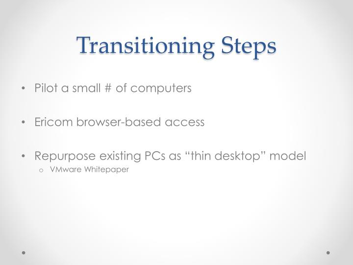 Transitioning Steps
