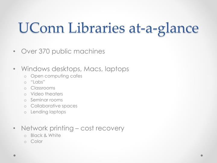 Uconn libraries at a glance