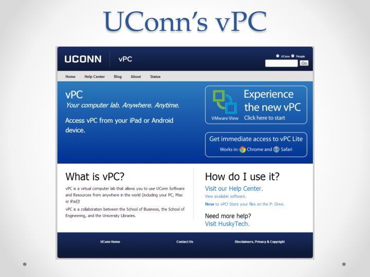 UConn's vPC