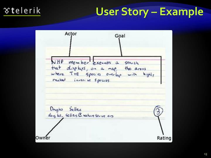 User Story – Example
