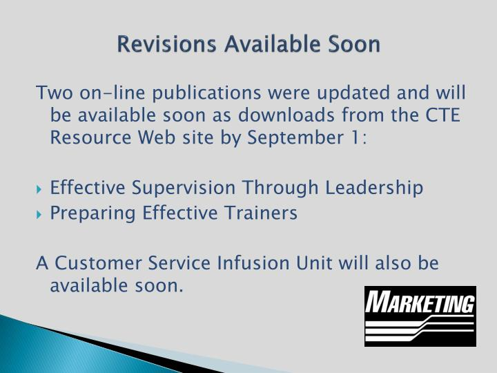 Revisions Available Soon