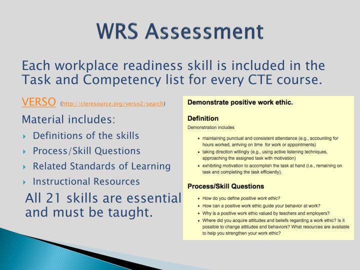 WRS Assessment