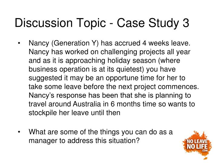Discussion Topic - Case Study 3