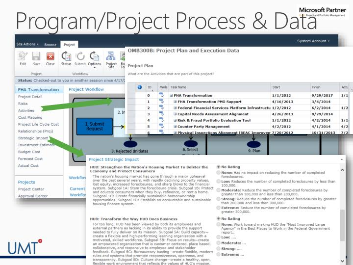 Program/Project Process & Data