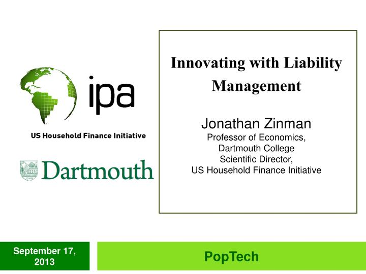 Innovating with Liability Management