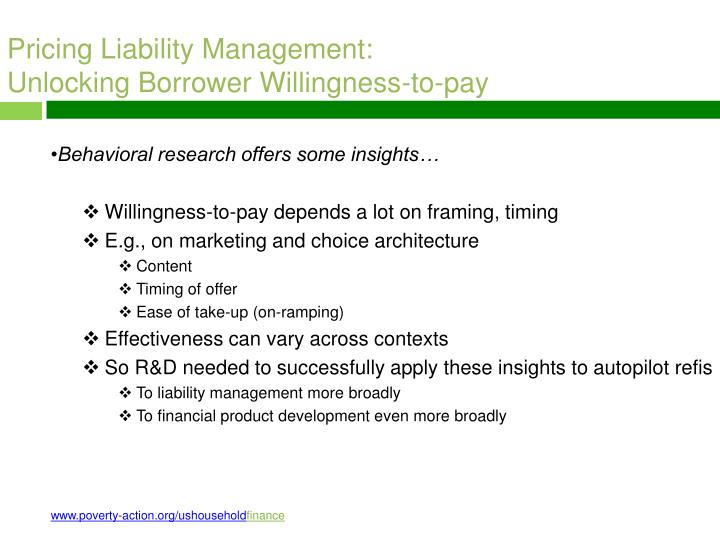 Pricing Liability Management: