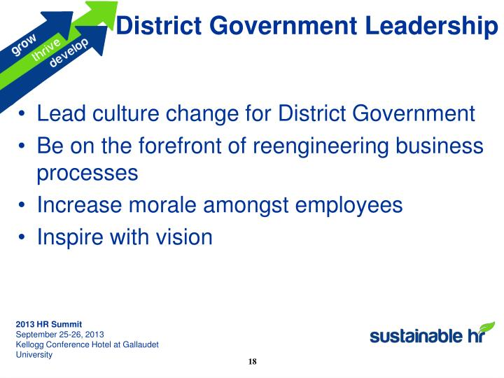 District Government Leadership
