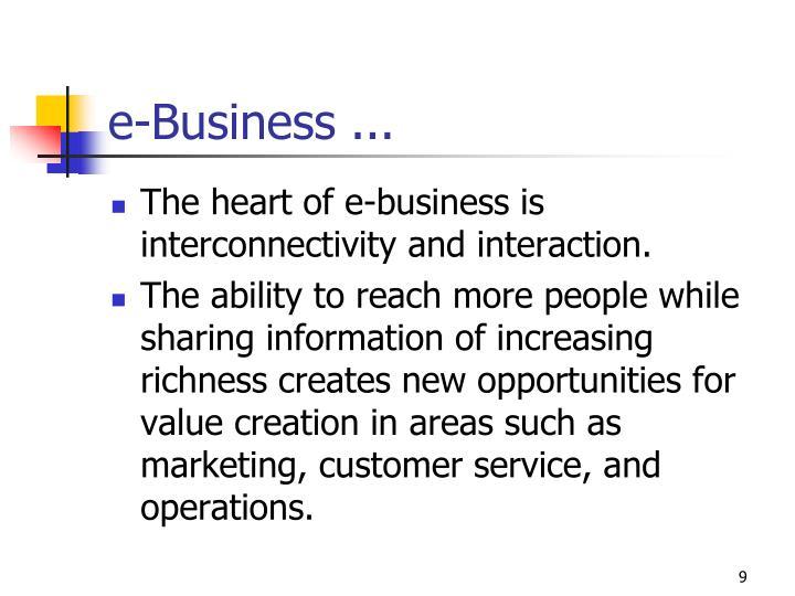 e-Business ...